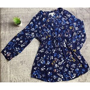 Motherhood Long Sleeves Blue Floral size Medium